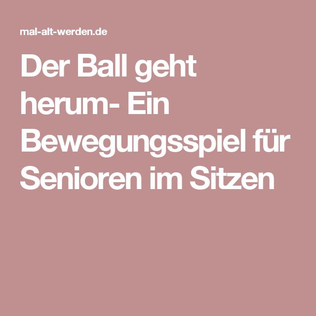 Der Ball Geht Herum Ein Bewegungsspiel Für Senioren Im Sitzen