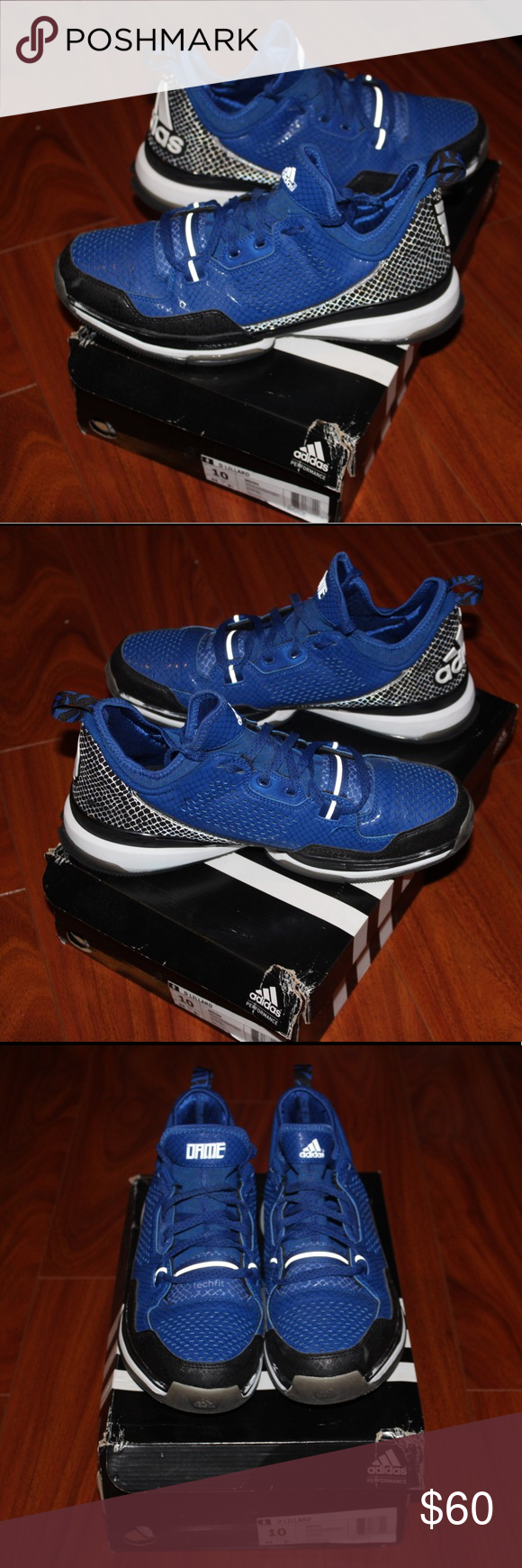Damian Lillard 1 Blue adidas, Clothes design, Boat shoes
