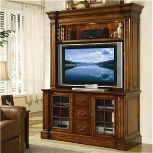 Hooker Furniture Waverly Place Entertainment Console and Hutch ...
