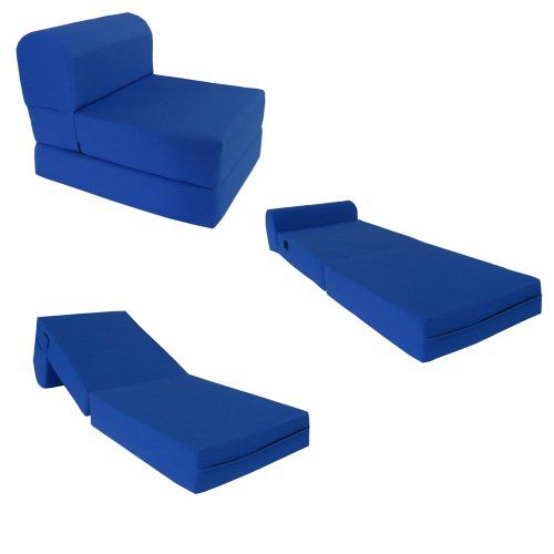 Royal Blue Sleeper Chair Folding Foam Bed Sized 6 Thick X 32