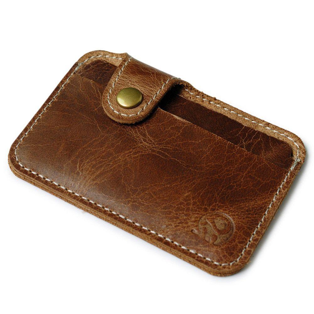 wallet men luxury brand Credit Card wallets brown Slim Mini Wallet ...
