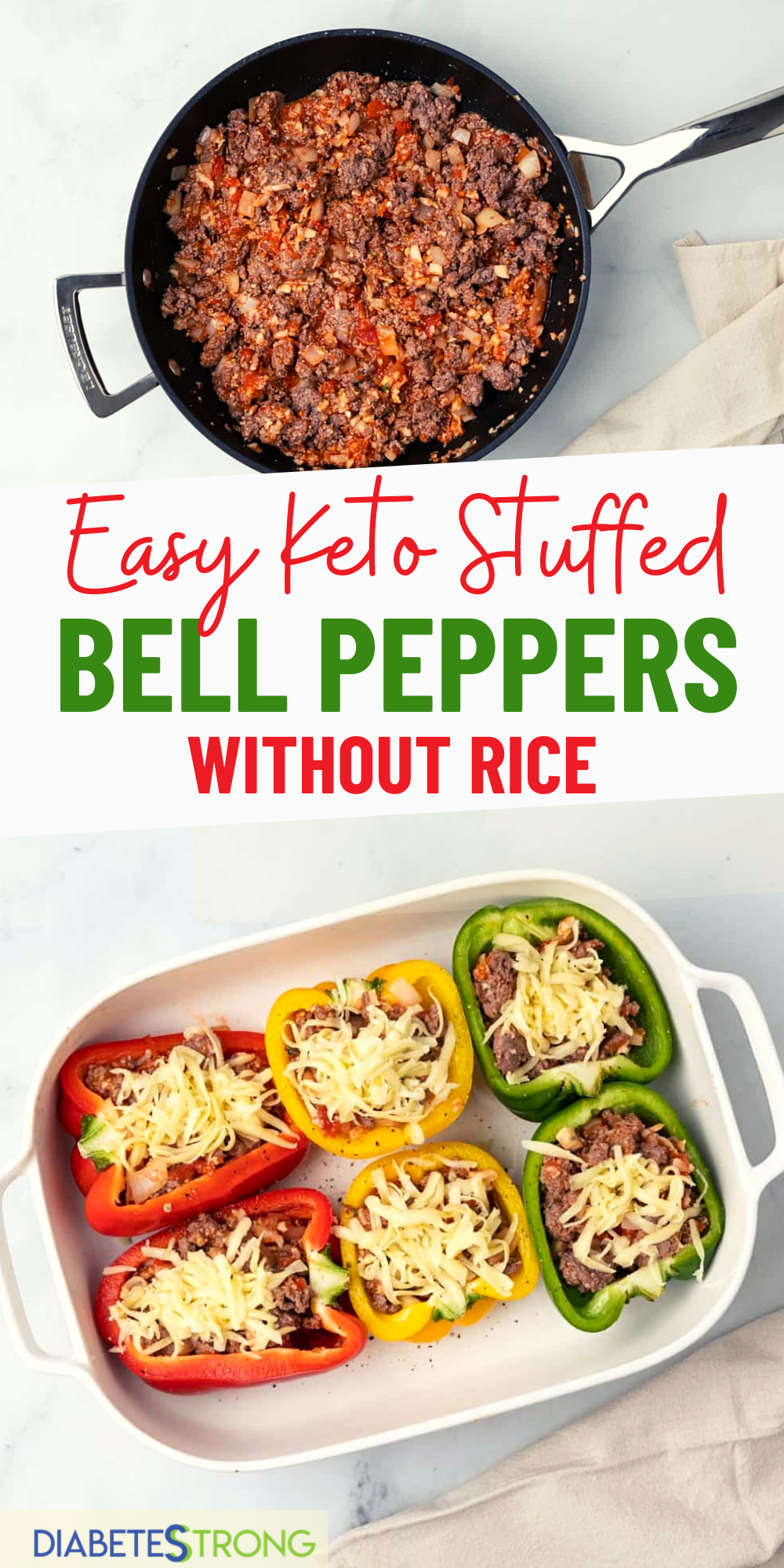 Stuffed Peppers Without Rice Recipe Diabetes Strong Recipe In 2020 Easy Family Meals Stuffed Peppers Healthy Low Carb Dinners