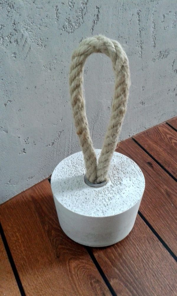 Do It Yourself Home Design: How To: Cement And Rope Door Stopper