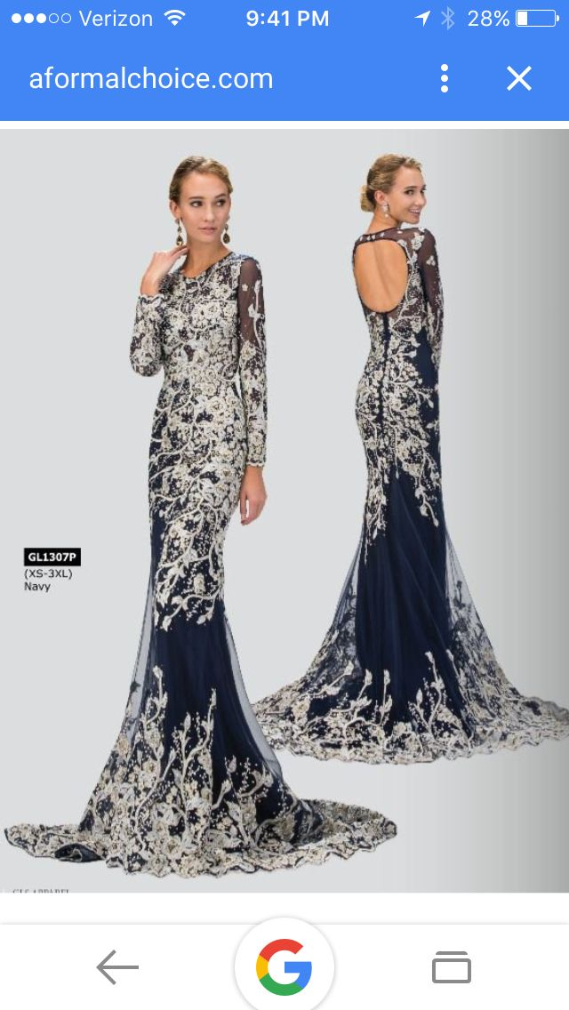 Stunning modest prom dress and gown with sleeves, easy fill in if ...