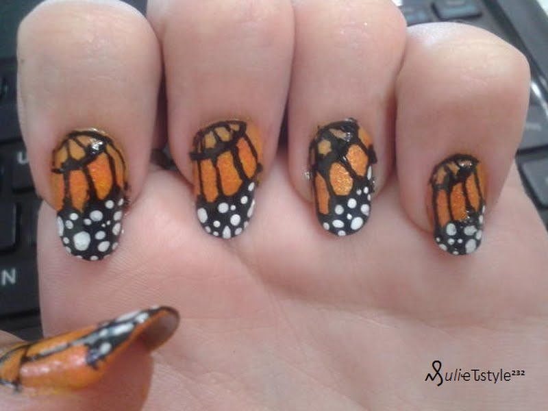 Monarch Butterfly Butterfly Nail Nail Art Designs Fashion Nails