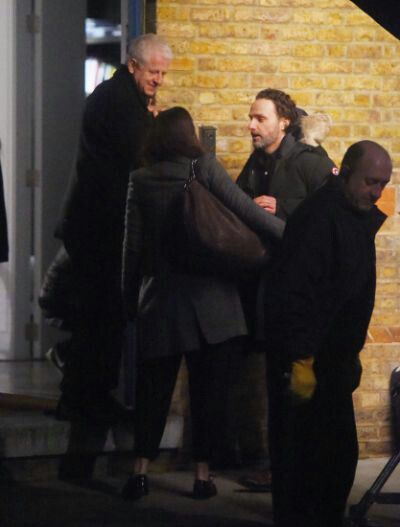 Richard Curtis, Andrew Lincoln, and Keira's back ...
