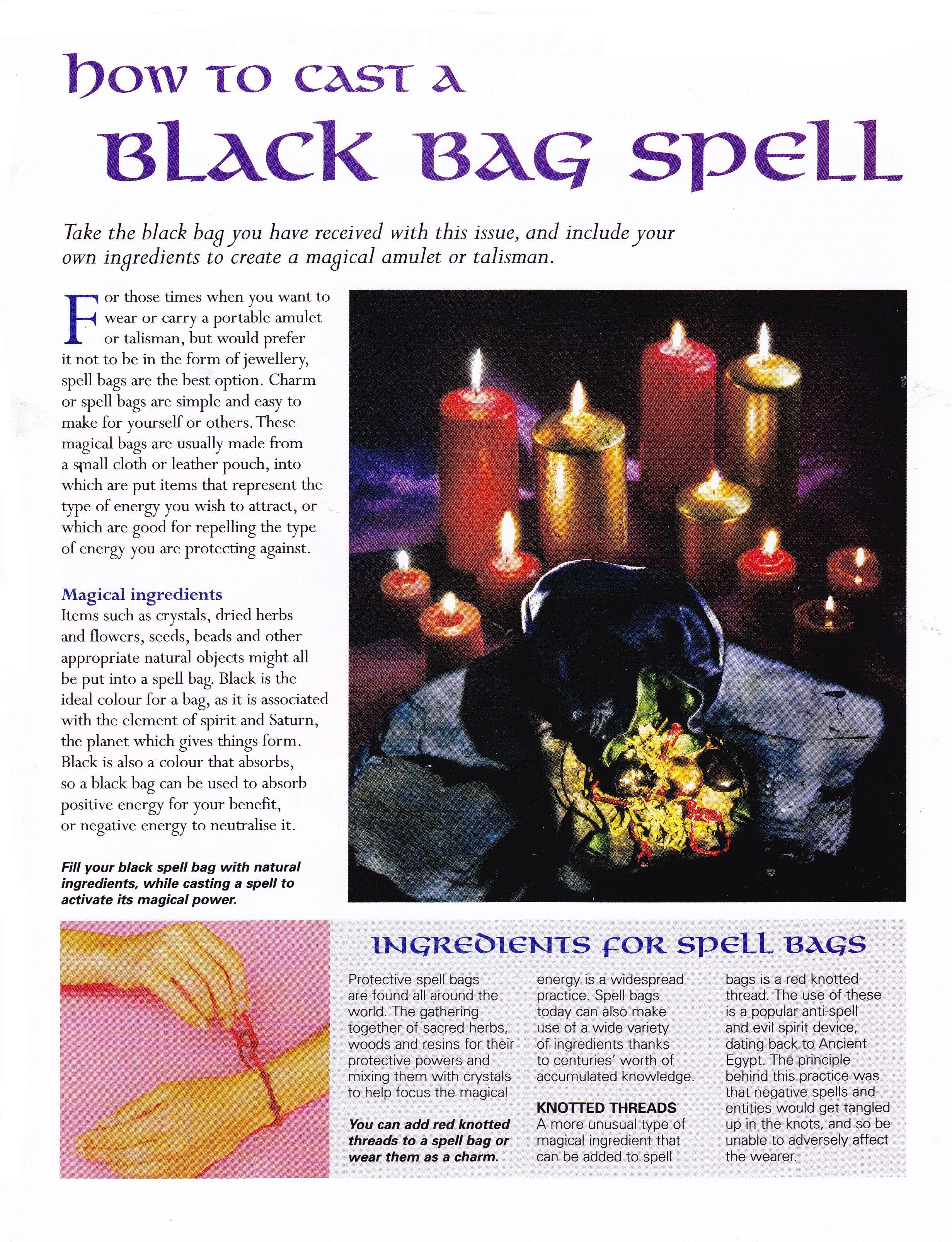 How to cast a black bag spell