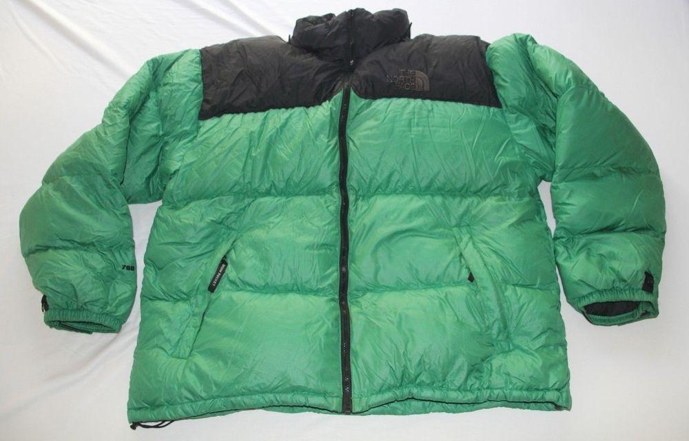 3c47b6f5ff The North Face TNF Vintage Nuptse Down Coat 700 Fill Green Black ...