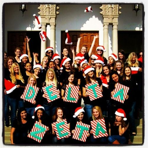 Delta Zeta sisters at Loyola Marymount University... would be cute to do with AXiD
