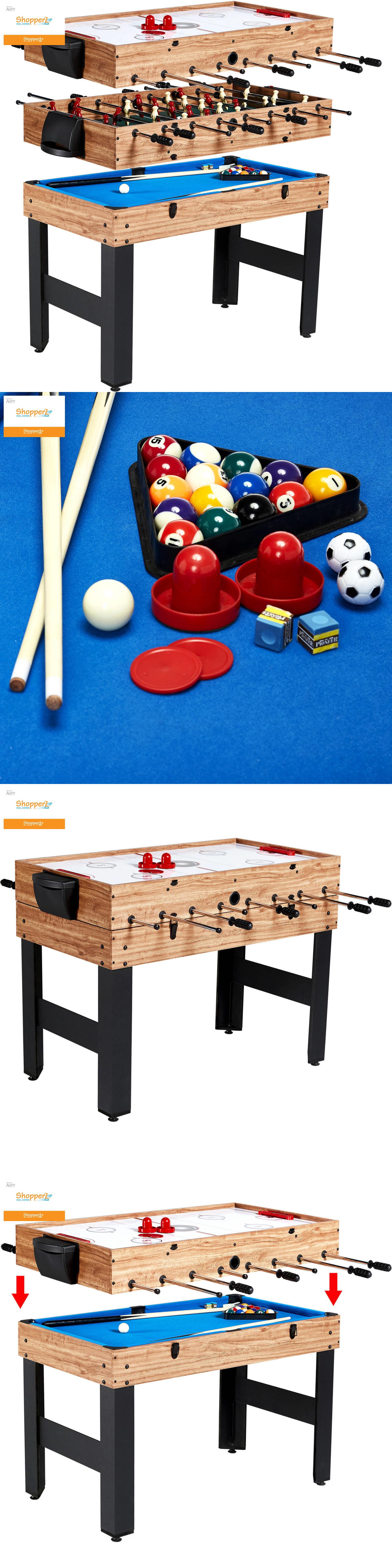 Tables 97075: 3 In 1 Multi Game Table Combo Foosball Pool Billiards Air  Hockey Soccer