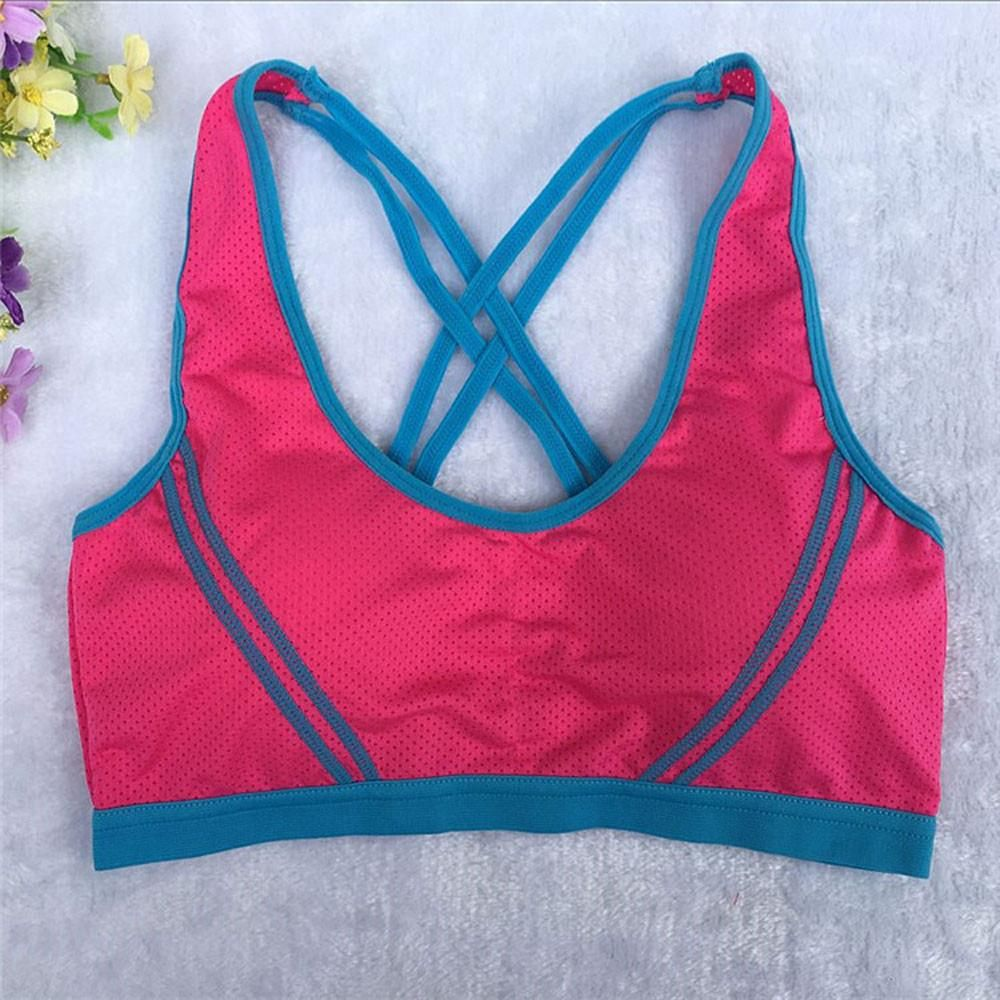 944d52830a Women's Fitness Stretch Seamless Racerback Padded Sports Bra  Specifications: Gender: Women Clothing Length: Regular Style: Fashion  Material: Cotton Blended ...