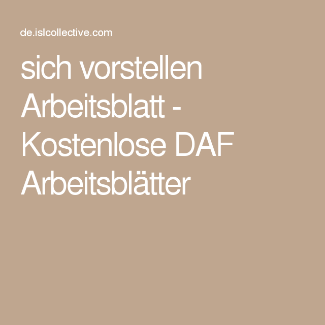 sich vorstellen   German resources, Deutsch and Worksheets