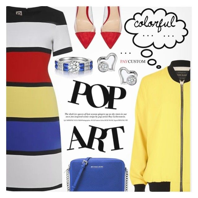 """""""Pop Art"""" by metisu-fashion ❤ liked on Polyvore featuring River Island, Michael Kors, Gianvito Rossi, polyvoreeditorial, polyvorefashion and polyvoreset"""