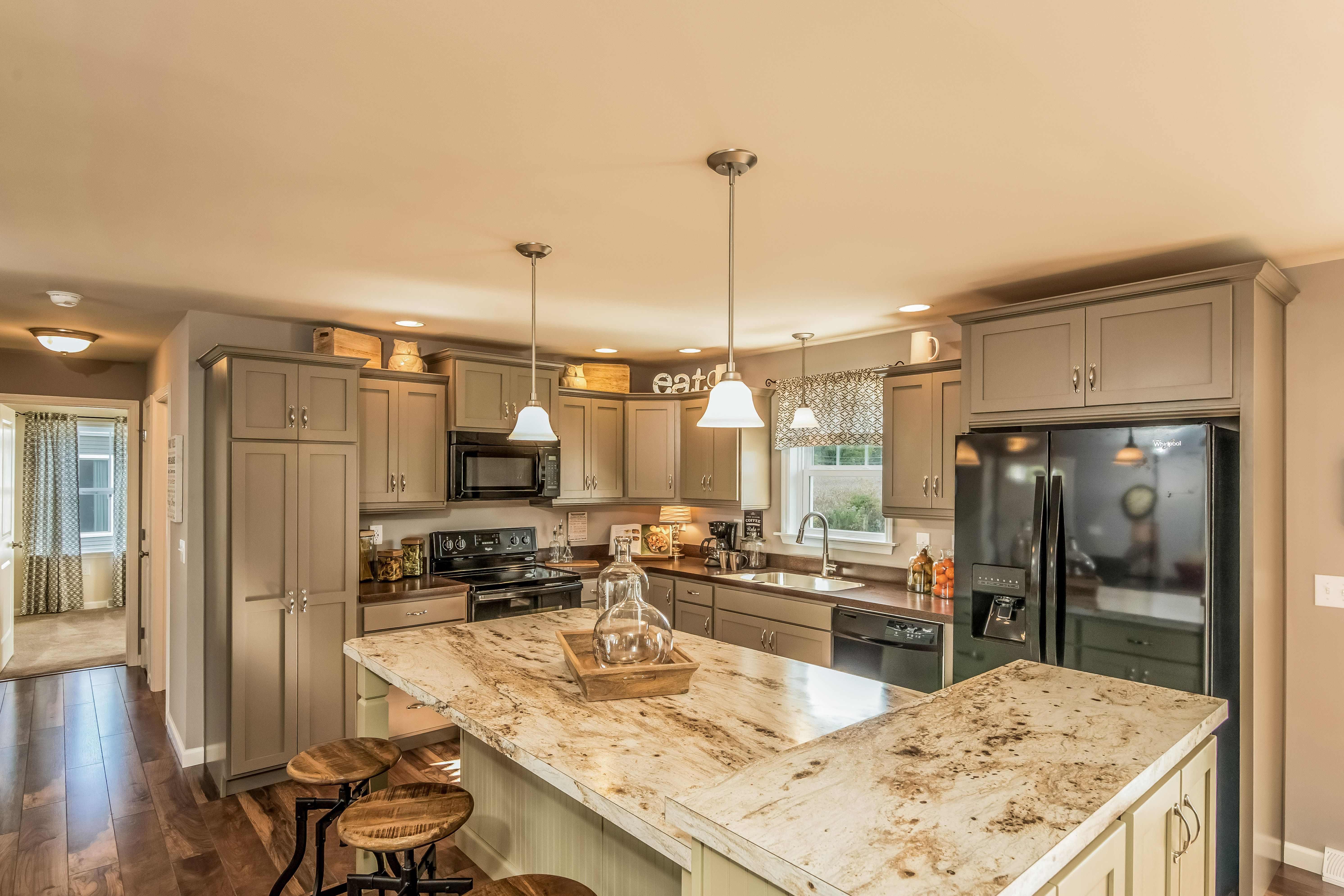 this kitchen features our warm stone paint color painted kitchen cabinetry design on kitchen cabinets design id=32090