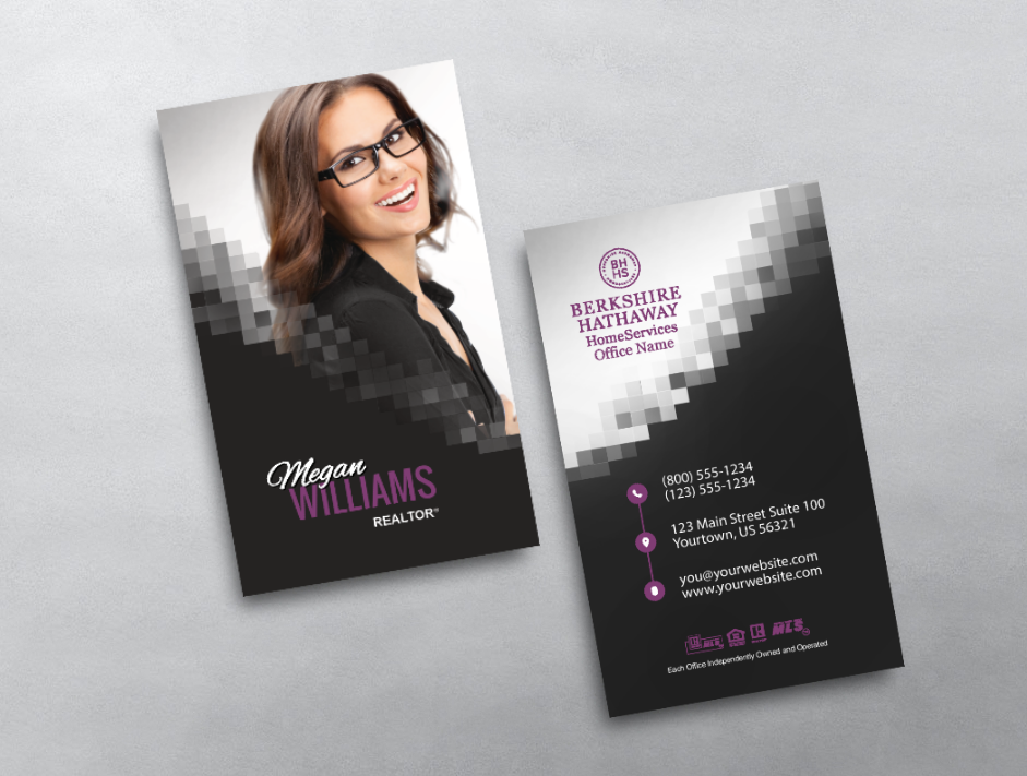 Berkshire Hathaway Business Card Style Bhr209 Photo Business Cards Modern Business Cards Modern Business Cards Design