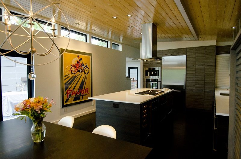 ModernShed ModernDwelling in Dallas TX Kitchendining room