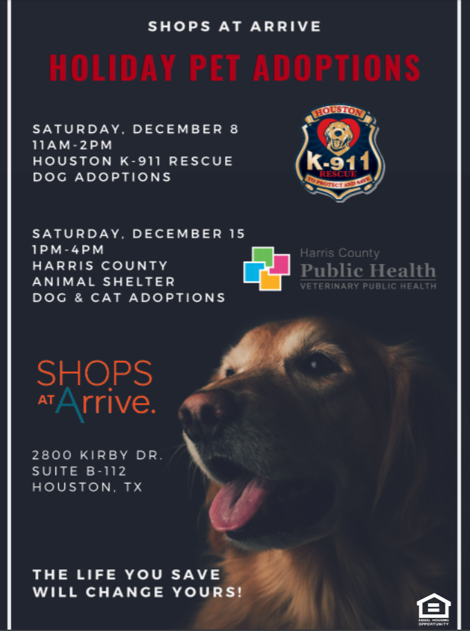 For The Next Two Saturdays We Re Hosting Holiday Pet Adoptions Help Give These Animals A Fur Ever Home The L Pet Holiday Hosting Holidays River Oaks Houston