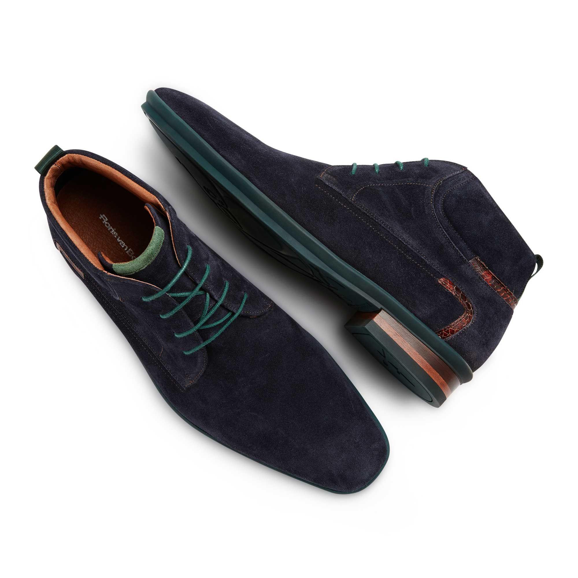 da65559fc0 10878 00 - Floris van Bommel dark blue suede lace boot Mens Smart Boots
