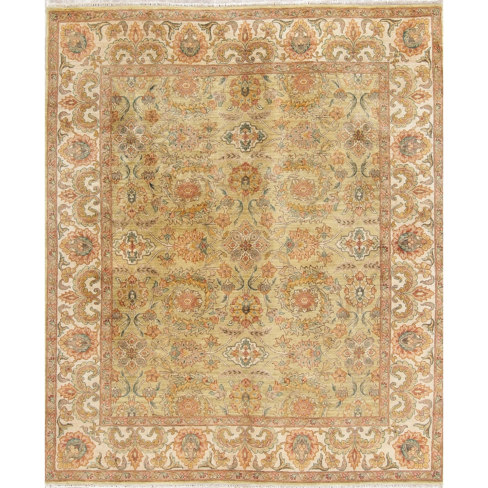 Agra Oriental Hand Knotted Wool Indian Area Rug 9 8 X 8 2 9 8 X 8 2 Gold Oriental Area Rugs Colorful Rugs Blue Area Rugs