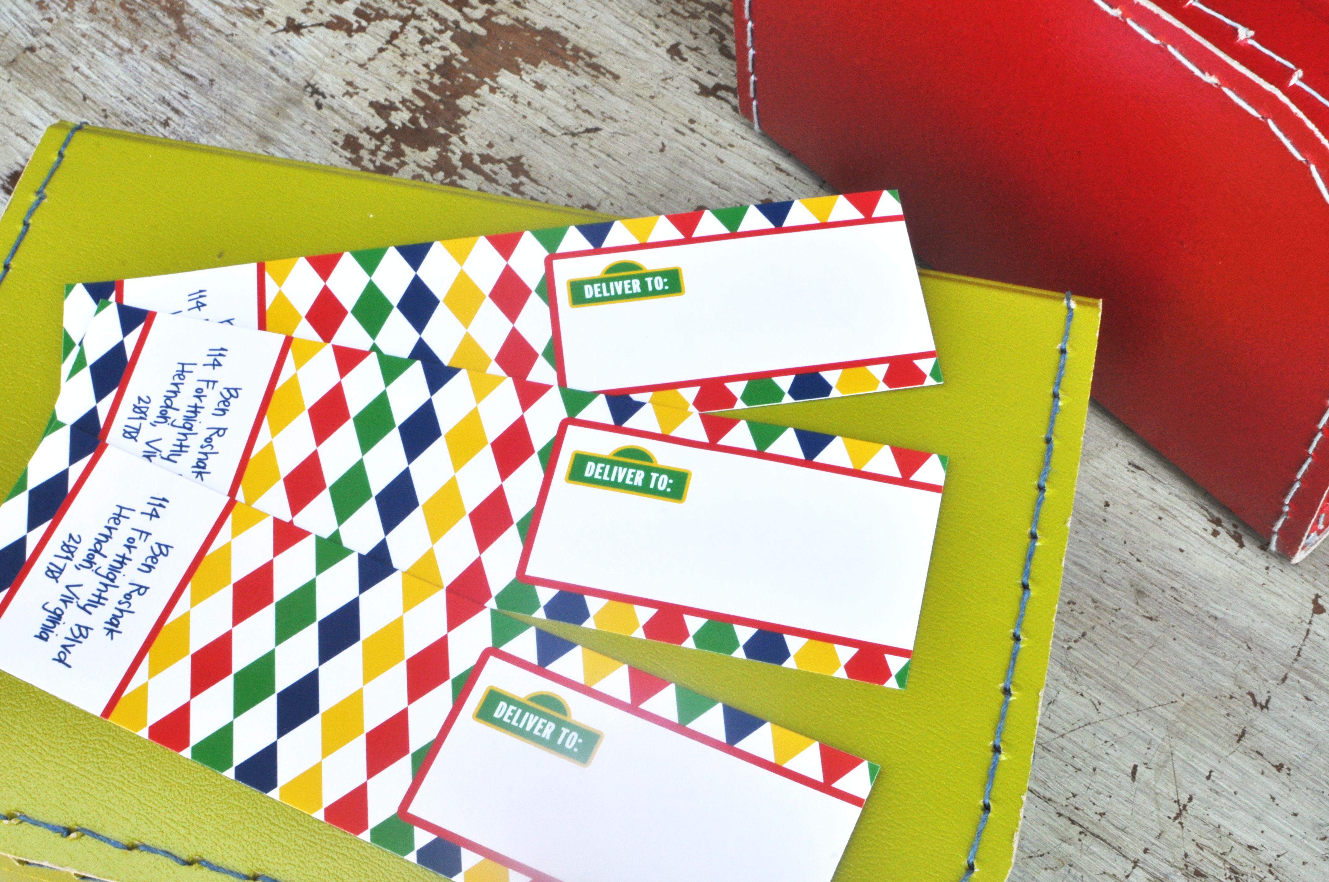 wrap around address labels- love