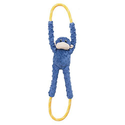 Zippypaws Monkey Ropetugz Plush And Rope Dog Toy Blue Amazon