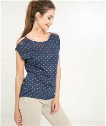 41357523aaf14 GDM - T-shirt femme épaules ouvertes dentelle | GÉOMÉTRIE PARTY ...