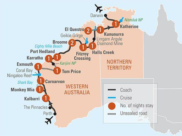 Map Of West Coast Australia.18 Day West Coast Adventure In 2019 Abroad Australia Tours