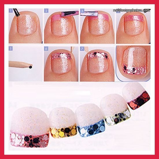 toe nail designs for winter