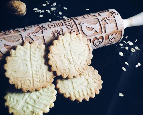 Graviertes Nudelholz Mit Sknadinavischem Muster 27 Eur Nordliebe Com Weihnachtsgeback Weihnachtsbackerei Weihnachtsrezepte