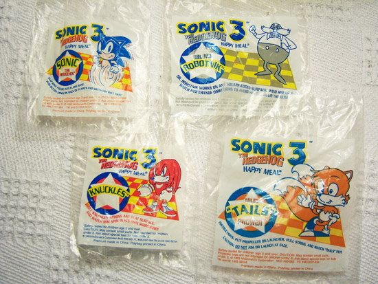 Toys of Yesterday: Sonic 3 McDonalds Happy Meal toys - TOMOPOP