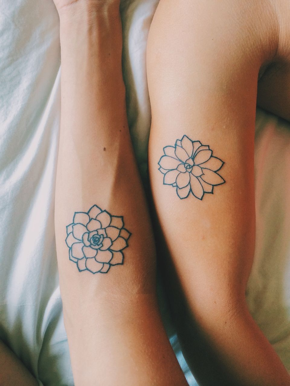 Ideas about flower ankle tattoos on pinterest little lotus flower - Succulent Tattoos Line Work Tattoos
