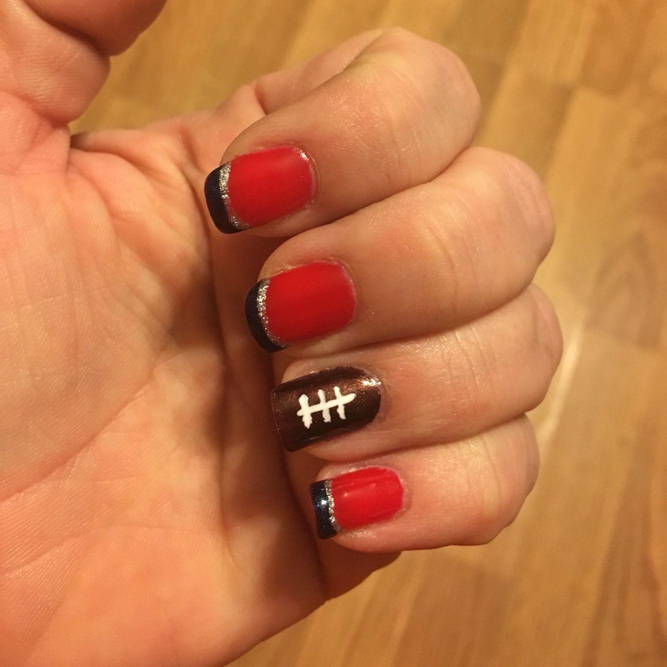 New England Patriots Nails Nail Art Football Nails | Beauty Nails ...