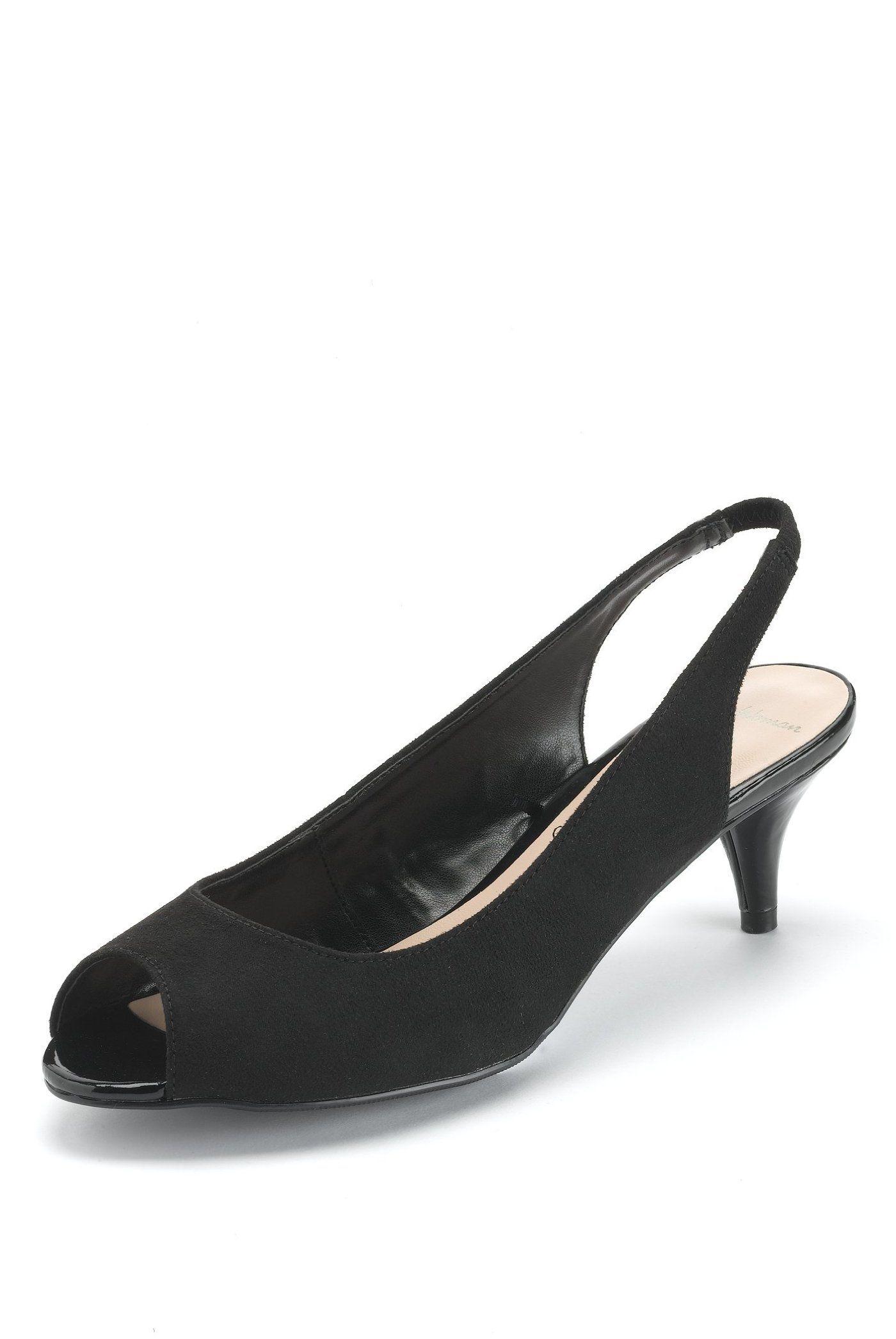 MS Peep Toe Stiletto Slingback with