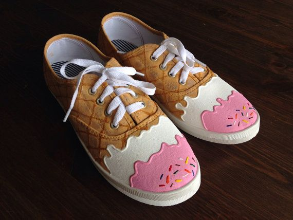 Ice cream shoes   Canvas shoes diy