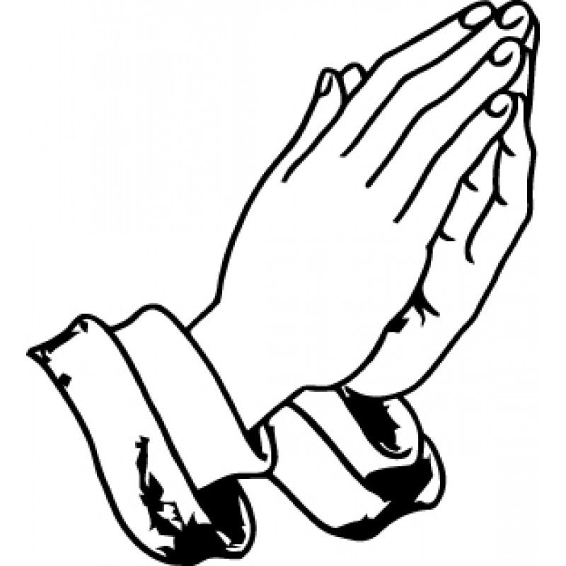 praying hands coloring page - Jesus Praying Hands Coloring Page
