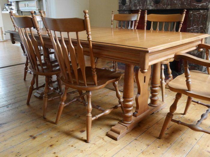 Canadian Maple Wood Dining Room Set Wood Dining Room Set Dining Used Dining Table