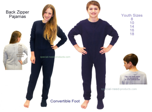 d3983036f9 Back Zipper Pajamas - Special Needs Clothing