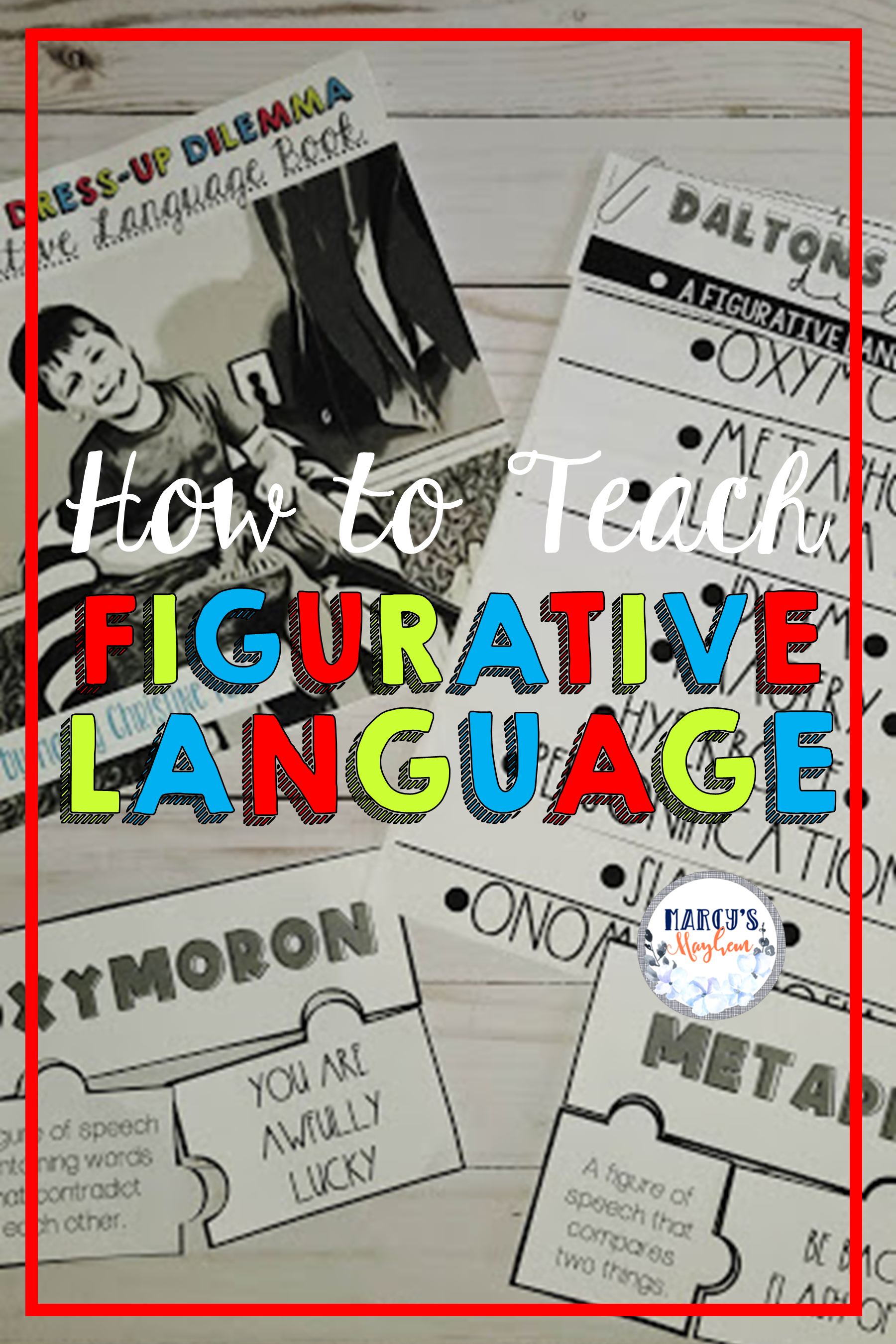 Teaching Figurative Language Onomatopoeia Idioms