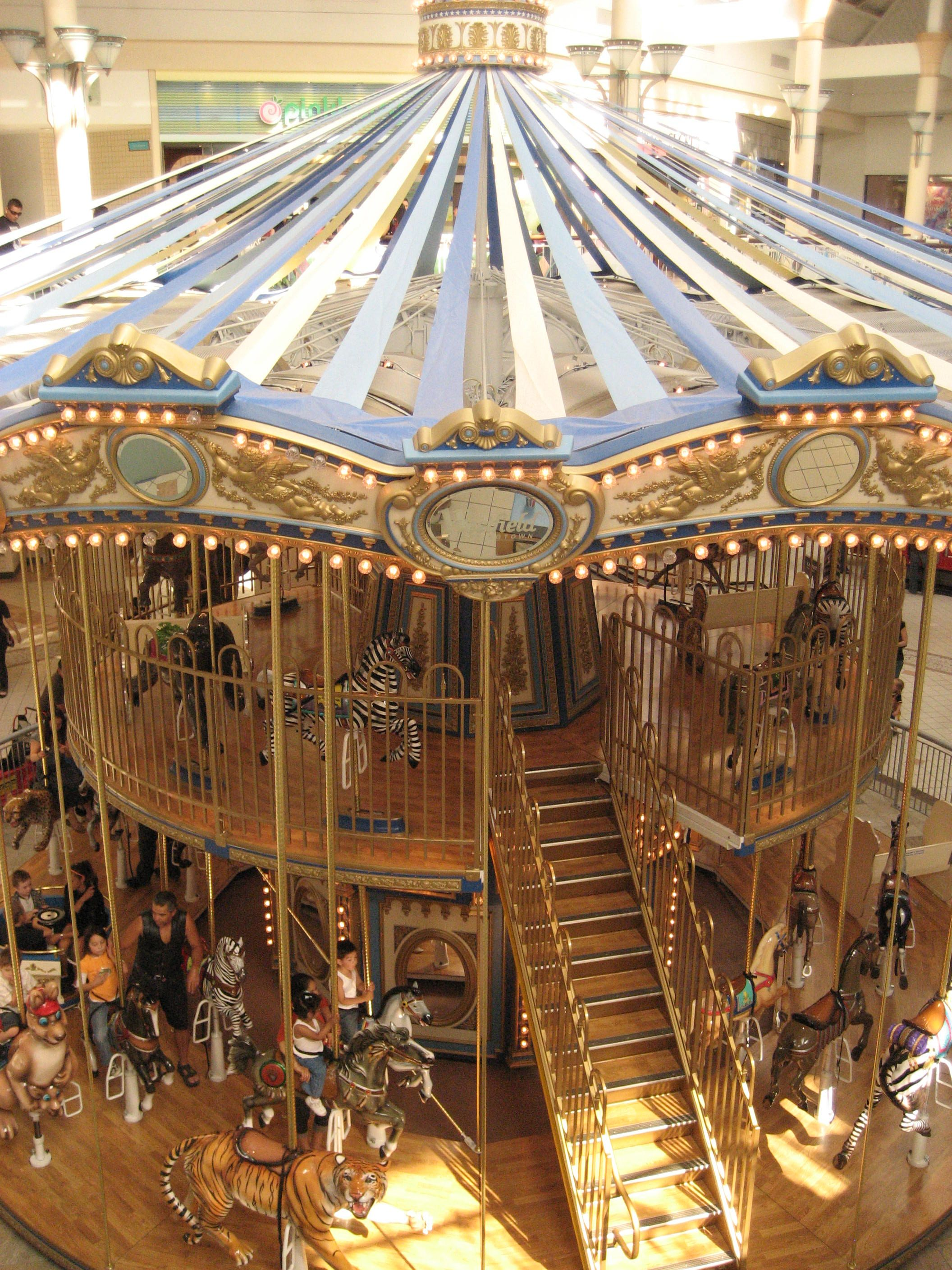 Carousel Two Story Looks Like It Is In A Mall