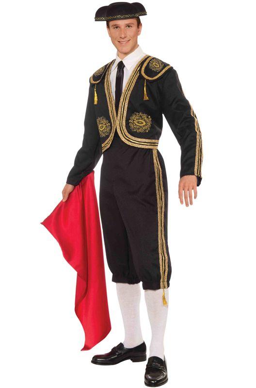 Adult Mens Spanish Bullfighter Matador Costume Bull Fighter Toreador Fancy Dress