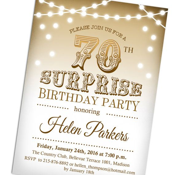 70th Birthday Party Ideas For Mom 75th Parties Surprise 90th