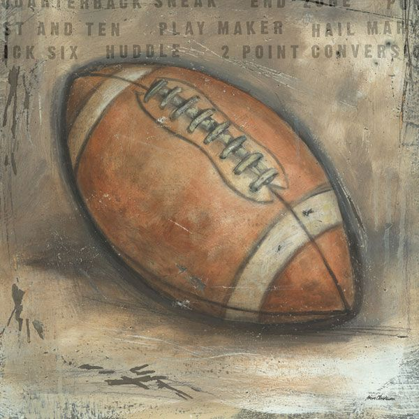 Be the Ball Football Canvas Wall Art … | Sports Painting & Project ...