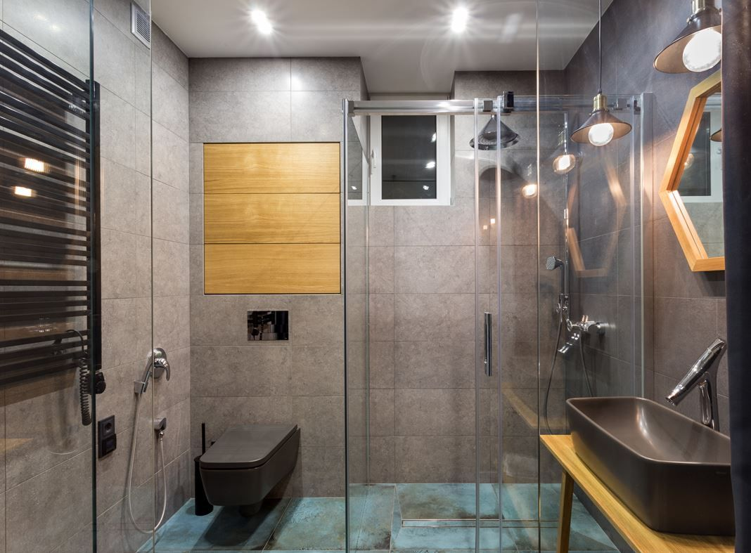 Minimalist Bathroom Designs With Wall Texture Decor Which Looks So - Apartment soft minimalist decor