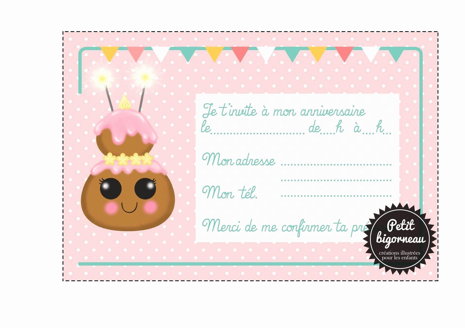invitation anniversaire 7 ans