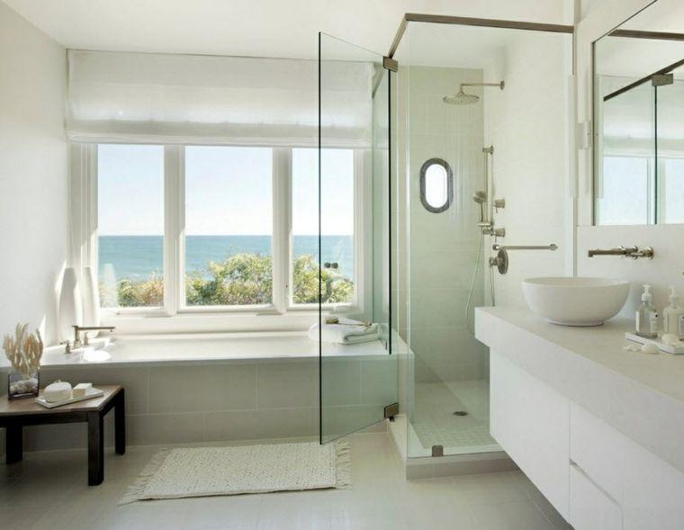 Imagenes de ba os 102 ideas para espacios modernos interiores para ba os - Estores para banos ...