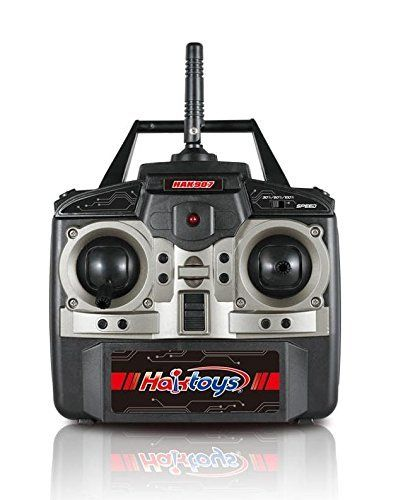 """Amazon.com: Haktoys HAK907 17"""" Diagonal 2.4GHz 4CH RC Quadcopter, 6 Axis Gyroscope, Loop Function, Rechargeable, Ready To Fly, LED Light, and Camera-Ready (Camera not Included): Toys & Games"""
