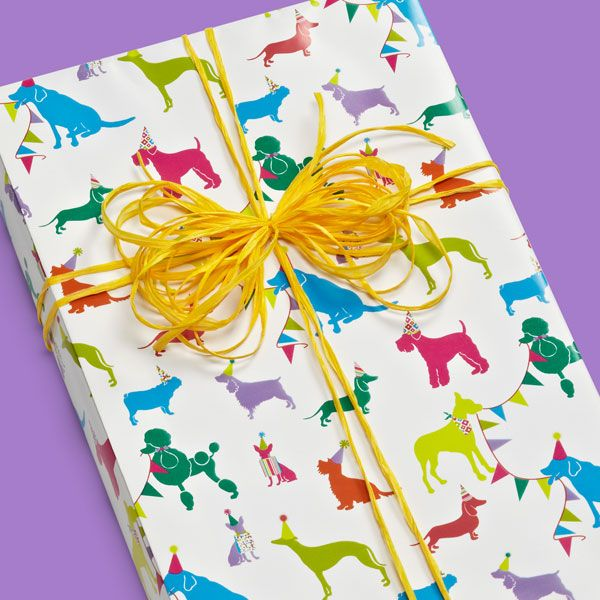 Birthday Bow Wow Wrapping Paper | Wraps, Gift and Wrapping ideas