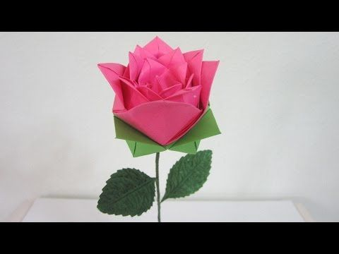 Tutorial how to make an origami rose 2 youtube origami 2 a version of rose from the book origami flowers by hiromi hayashi mightylinksfo