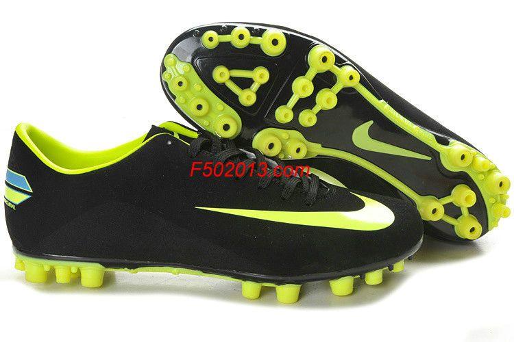 Nike Mercurial Victory III AG Black Light Green Botas De Fútbol b1fd9fa78de02