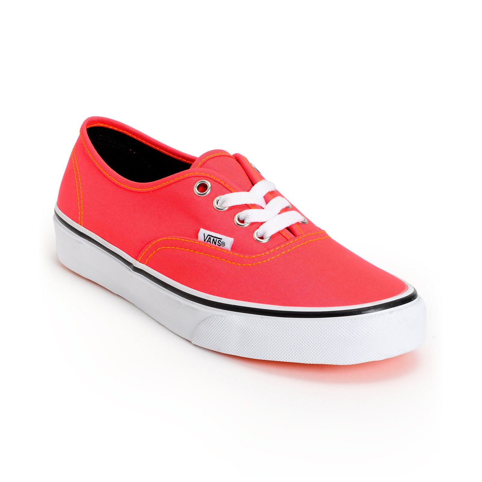 orange vans shoes womens